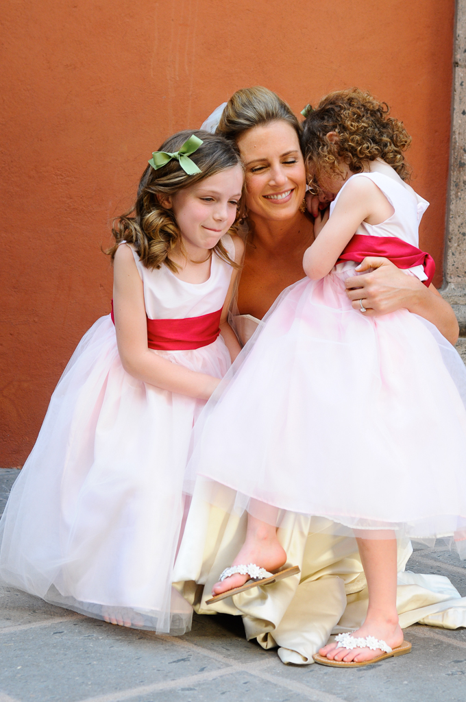 Bride & flower girls