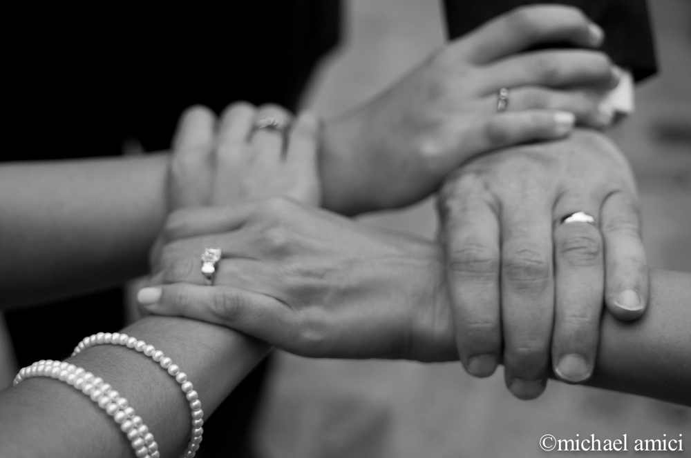 Wedding band hands