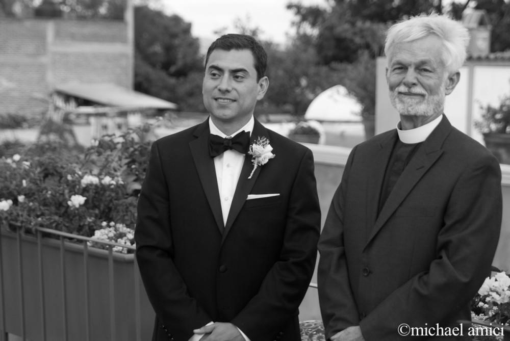 Priest & groom